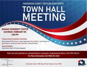 Hardeman County RP Town Hall Meeting @ Community Center | Quanah | Texas | United States