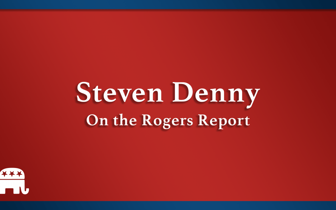 Steven Denny on The Rogers Report.